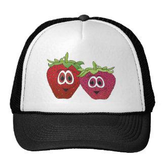 Cartoon Strawberries Trucker Hat