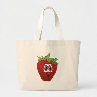 Cartoon Strawberry II Large Tote Bag