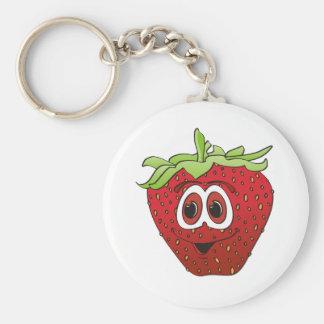 Cartoon Strawberry Keychain