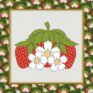 cartoon strawberry kitchen or restraunt tile - Strawberry Kitchen Decoration