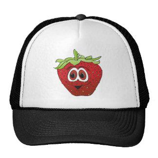 Cartoon Strawberry Trucker Hat