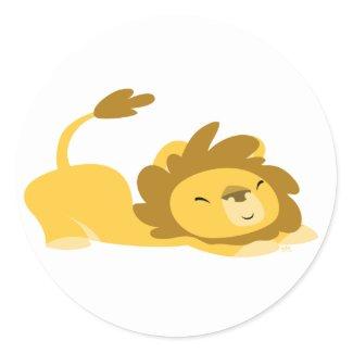 Cartoon Stretching Lion sticker sticker