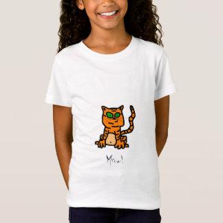 Cartoon Striped Kitten Shirt