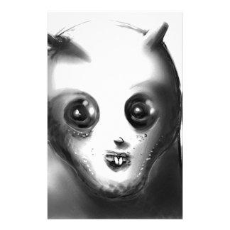 cartoon style alien illustration stationery