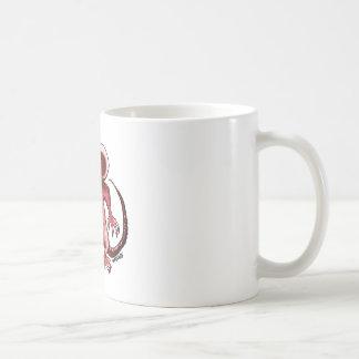 cartoon style angry rat coffee mug