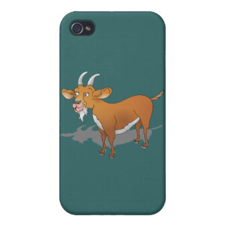 Cartoon style brown goat iPhone 4 covers