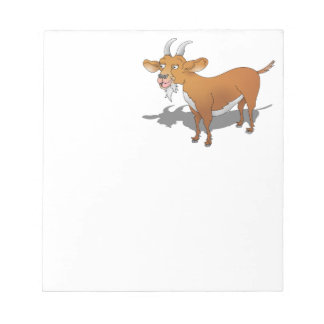 Cartoon style brown goat note pad