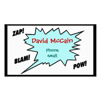 Cartoon style Calling Card Double-Sided Standard Business Cards (Pack Of 100)