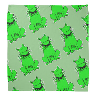 cartoon style dog pure green bandana