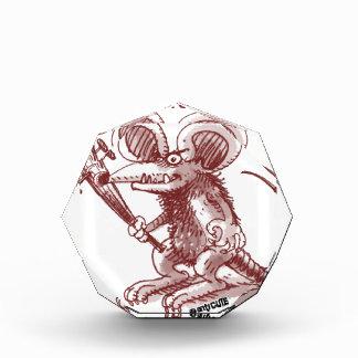 cartoon style illustration angry rat any problem acrylic award