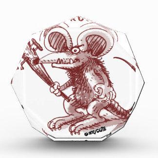 cartoon style illustration angry rat any problem award