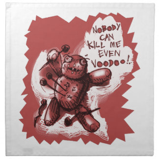 cartoon style voodoo baby napkin