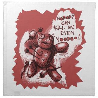 cartoon style voodoo baby napkin