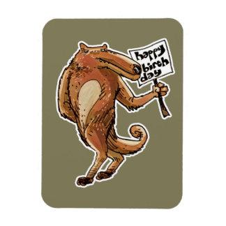 cartoon style wolf happy birthday message magnet