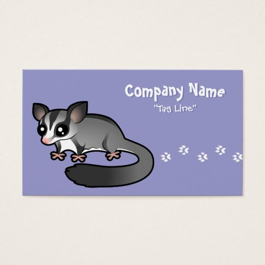 Cartoon Sugar Glider Business Card