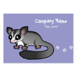 Cartoon Sugar Glider Business Card Template