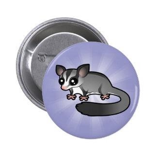 Cartoon Sugar Glider Pinback Button