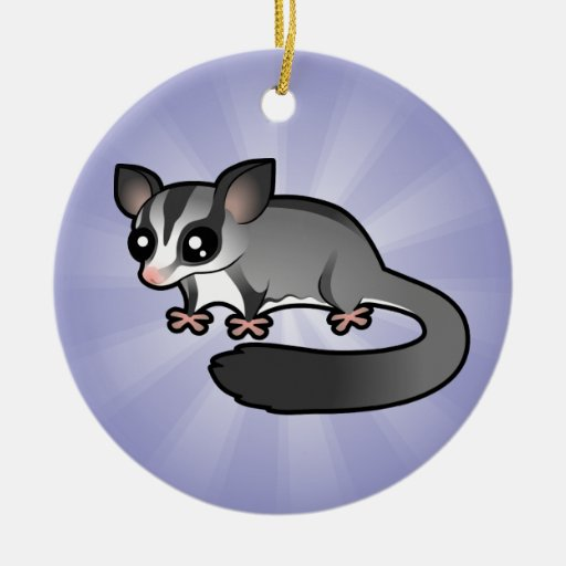 Cartoon Sugar Glider Ceramic Ornament