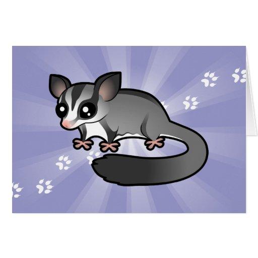 Cartoon Sugar Glider Greeting Card