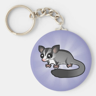 Cartoon Sugar Glider Keychain