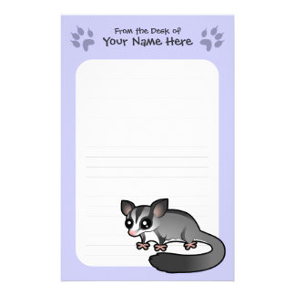 Cartoon Sugar Glider Stationery