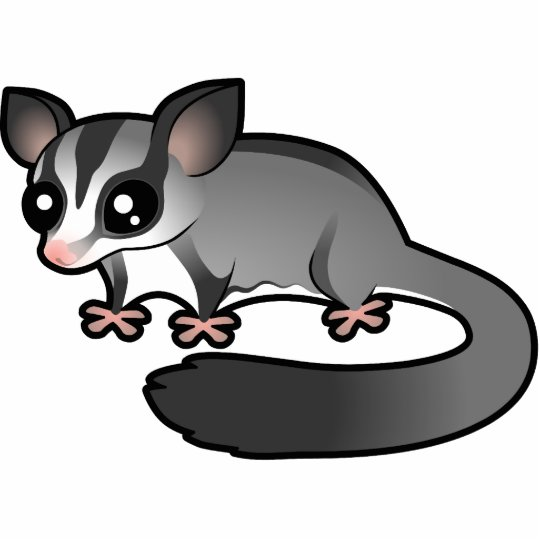 Cartoon Sugar Glider Statuette