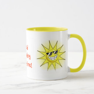 cartoon_sun_01, Good Morning Sunshine!, Sunset ... Mug