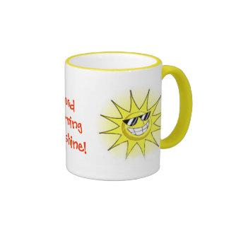 cartoon_sun_01, Good Morning Sunshine!, Sunset ... Coffee Mugs