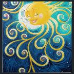 """cartoon sun and moon love peace napkin<br><div class=""""desc"""">Sun and Moon Art</div>"""