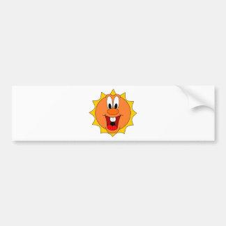 Cartoon Sun Bumper Sticker