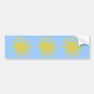 Cartoon Sun doodle Bumper Sticker