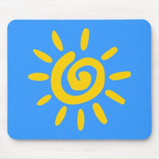 Cartoon Sun doodle Mouse Pad