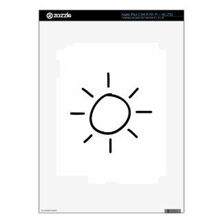 Cartoon Sun Skins For iPad 3