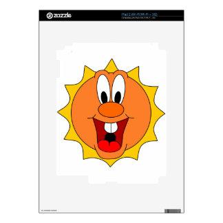 Cartoon Sun Decal For iPad 2