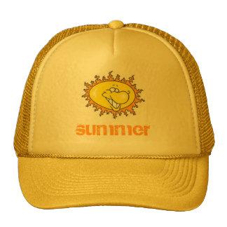 cartoon-sun, summer trucker hat