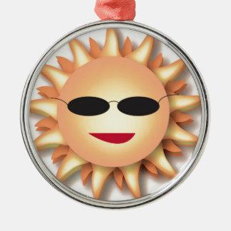 Cartoon Sun Wearing Cool Shades Ornaments