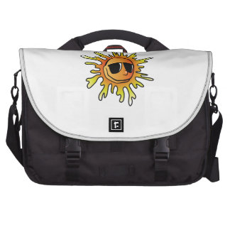 Cartoon Sun Wearing Sunglasses Laptop Messenger Bag