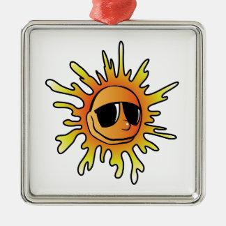 Cartoon Sun Wearing Sunglasses Ornaments