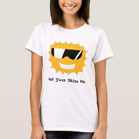Cartoon Sun With Sunglasses T-Shirt