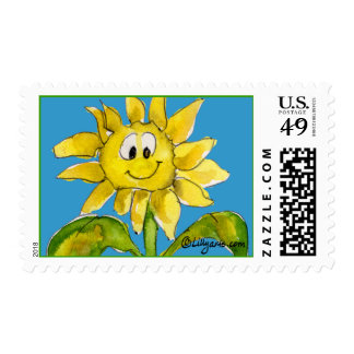 Cartoon Sunflower Postage