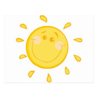 Cartoon sunny sun postcard