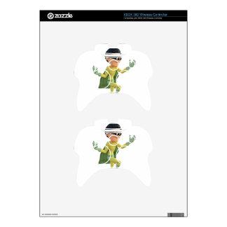 Cartoon Super Toon Man Flying in the Air Xbox 360 Controller Skin