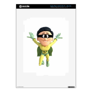 Cartoon Super Toonman in Lime and Green Decals For iPad 3