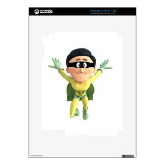 Cartoon Super Toonman in Lime and Green iPad 2 Skin