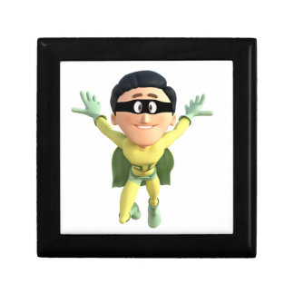 Cartoon Super Toonman in Lime and Green Jewelry Box