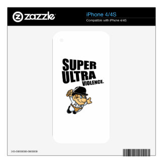 cartoon super Ultra violence Skin For The iPhone 4S