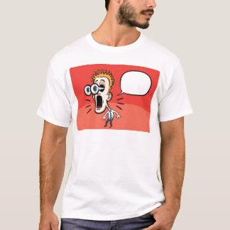 Cartoon surprising businessman with speech bubble T-Shirt