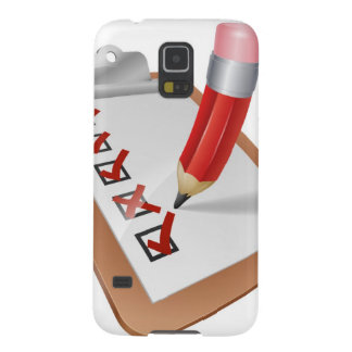 Cartoon Survey Clipboard with Pencil Cases For Galaxy S5