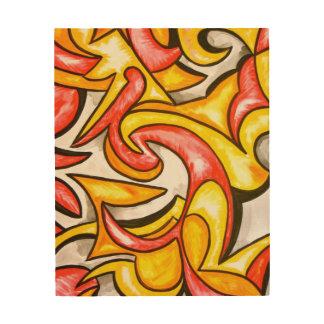 Cartoon Swirl-Abstract Art Hand Painted