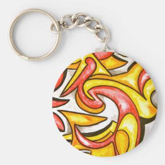 Cartoon Swirl-Abstract Art Keychain
